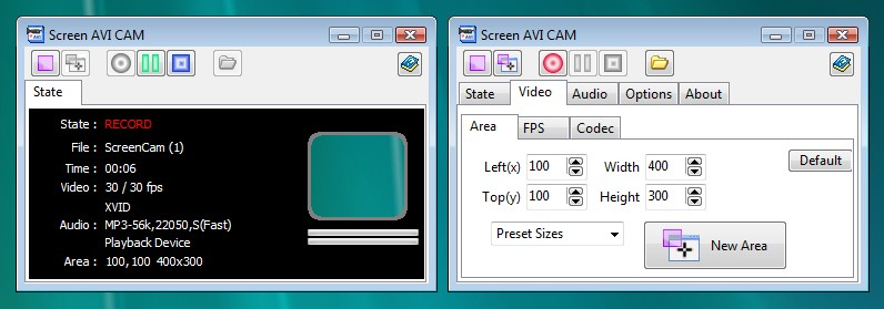 Click to view Screen AVI CAM screenshots