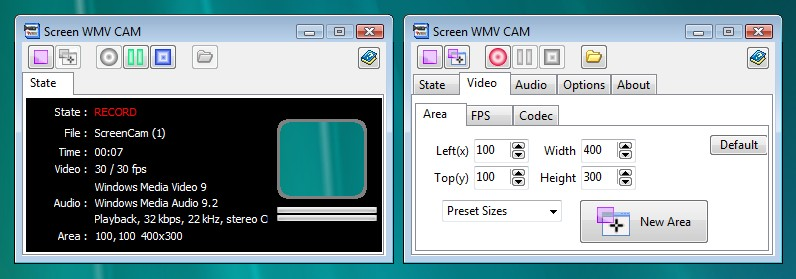 Screen WMV CAM Screenshot